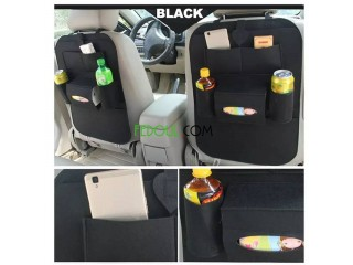 Car Back Seat Organizer Black