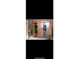 Chambre à coucher 3 portes bois hâtre