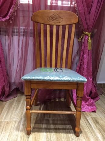 salle-a-manger-table-en-bois-massif-6-chaises-en-velours-big-2