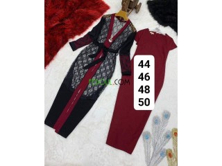 Robe/ hijab + haut en dentelle