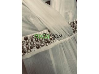Robe blanche midi taille 38