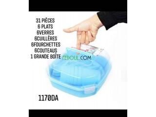 Vaisselle de picnic 31 pièce
