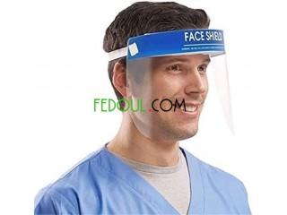 Masque à visière, Gel hydroalcoolique, Bavette
