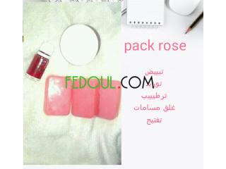 Pack soins bio rose