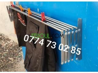 Sèche linge aluminium extensible étendoir 4 dimensions