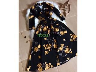 فستان كلوش ملكي