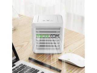 مبرد هواء و مروحة، 3 في 1 جهاز صغير لتنقية الهواء للمكتب و للعائلة (أبيض)