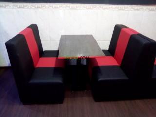 Banquette et fauteuils deux places