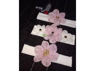 Bandeau à fleur pour filles ( hand made)