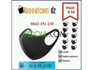 Pack de 10 Bavettes masque lavable