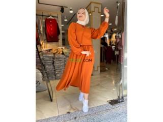 Robe longue hijab 100% Turquie