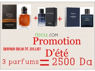PROMOTION PARFUMS hommes