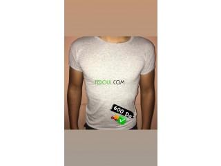 T-shirt col rond pour été 95% coton