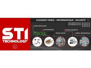 STI technology Installation réseau, caméras, alarmes