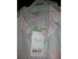 Chemise couleurs pastel made in united kingdom