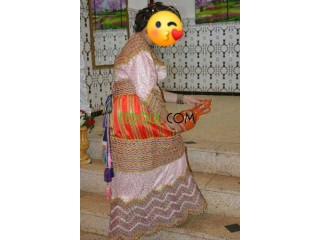Robe kabyle berbère traditionnelle.