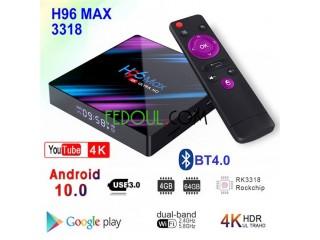 Tv box android h96 max
