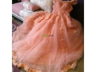 فستان خطورة و سهرة في نفس الوقت لون saumon