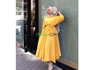 Très belle robe jaune