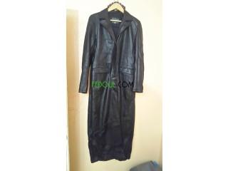 Manteau en cuir italien