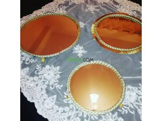 Plateaux miroir