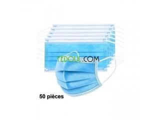 Bavettes 3 plus 3 couches avec barrette disponibles avec et sans filtre