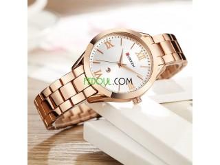 Montre Femme - C9007L - Bracelet Acier Inoxydable - Rose Gold Blanc