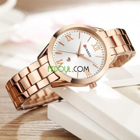 montre-femme-c9007l-bracelet-acier-inoxydable-rose-gold-blanc-big-0