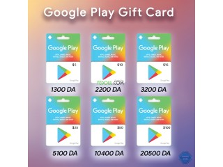 Cartes Google Play