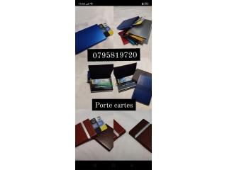 Porte carte magnétique حاملة البطاقات البيومترية