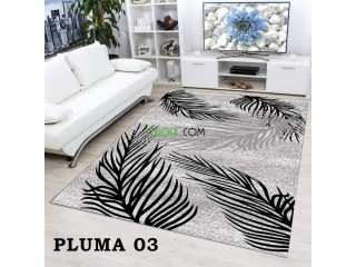 TAPIS DE SALON DIGITAL 3D PLUMA 03