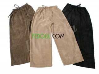 Pantalon carré en velour