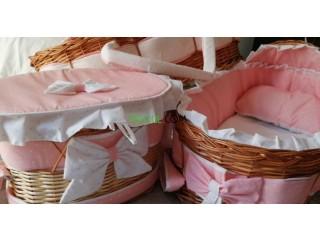 Couffin, panier et draps pour bébé sur commande