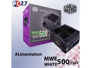 Alimentation cooler master mwe white 500 230v