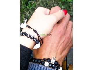 Bracelet couple a distance