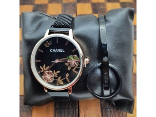 Pack CHANEL (Montre + Bracelet + Bague)