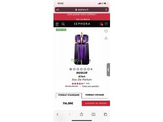 Parfum original pour femme mugler alien 60 ml