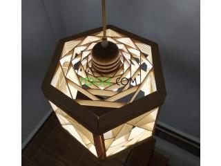 Lustre décoratif en bois