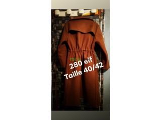 Robe coupe sirène et un manteau