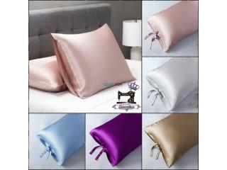 Queendeas pour les tais d'oreillers en satin