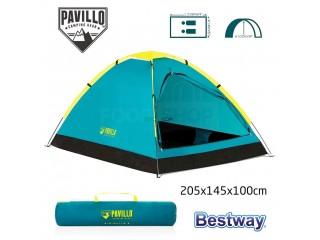 خيمة بافيلو لشخصين سهلة التركيب ومانعة للماء مثالية للاستمتاع بالطبيعة ليلا ونهارا Pavillo Tente Cooldome pour 2 personnes 205x145x100cm Bestway#68084