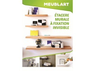 Etagere mural a fixation invisible