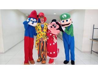 Clown et mascottes pour vos fêtes et événements
