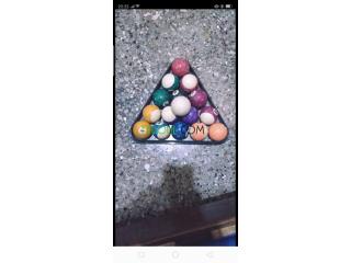 3andi les boules w triangle ta3 Billard masta3mline