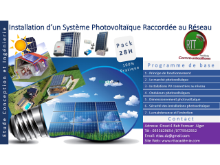 Installation d'un système photovoltaïque raccordée au réseau