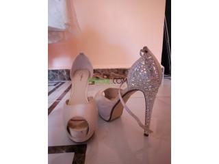 Robe de soirée et ses chaussures