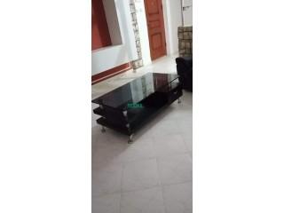 Table basse rectangulaire noire neuve
