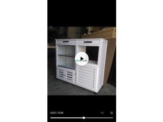 Rangement de cuisine blanc moderne