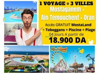 Voyage à l'ouest Algérien 3en1 (Mostaganem+Oran+Ain temouchent)