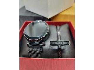 Pack Montre LED Bracelet Magnétique + Bracelet + Bague